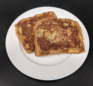 Griddle cooked French toast