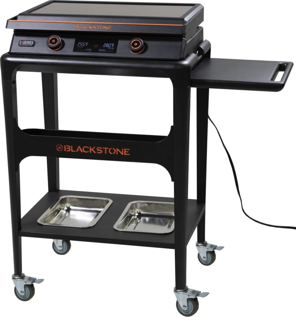 Blackstone E-Series 22 inch tabletop griddle with cart