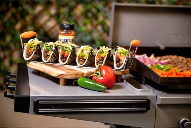 Blackstone Stainless Steel Taco Rack Holder With Handles